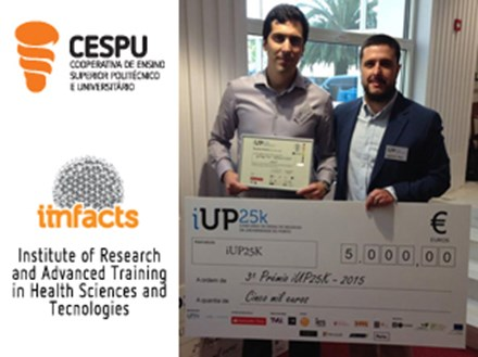 "Investigadores CESPU ganham 3ª prémio do concurso ""iUP25k Business Ideas Contest 2015"""